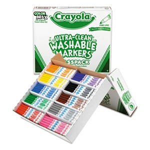 Crayola Classpack Washable Broad Point Markers, 8 Colors, 200 Total Markers