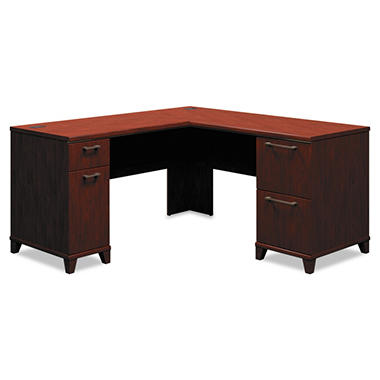 Bush - Enterprise L-Desk - Harvest Cherry - 60""