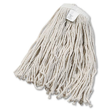 Unisan Cut-End Wet Mop Head, Cotton, #20 Size, White