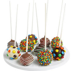 Birthday Belgian Chocolate-Dipped Cake Pops (10 pc.)