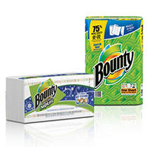Bounty Super Roll Select-a-Size Paper Towels and Seasonal Print Napkins