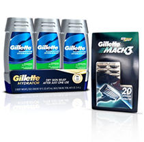 Gillette MACH3 Cartridges & Body Wash Bundle