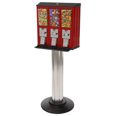 Northwestern Triple Play Vending Machine with Stand - Red/Black