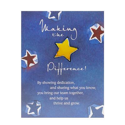 Baudville Making the Difference Character Pin