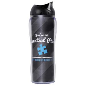Baudville Travel Mug Essential Piece, Blue, 4 Pack