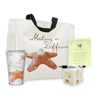 Baudville Starfish: Making a Difference Gift Set, 4 Piece Set