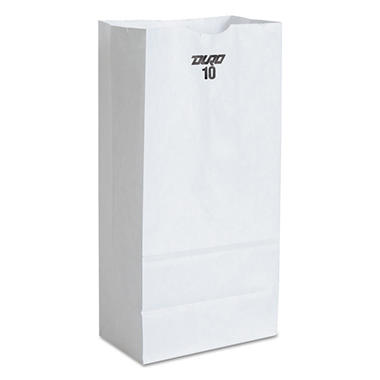 #10 White Paper Bag, 500 ct.
