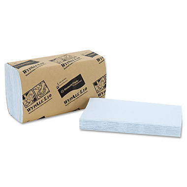 WypAll* - L10 Windshield Wipers, 9 3/10 x 10 1/2, Light Blue, 140/Pack -  16 Packs/Carton