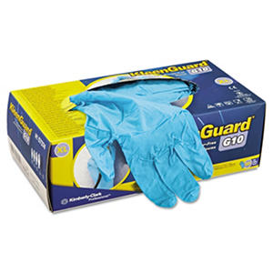 KleenGuard* - G10 Blue Nitrile Gloves, Powder-Free, Blue, Medium -  100/Box