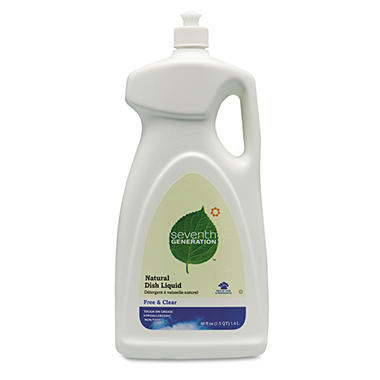 Seventh Generation Free & Clear Natural Dishwashing Liquid, Neutral, 48oz, (6ct.)