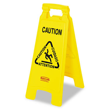 Rubbermaid Floor Sign with Multi-Lingual