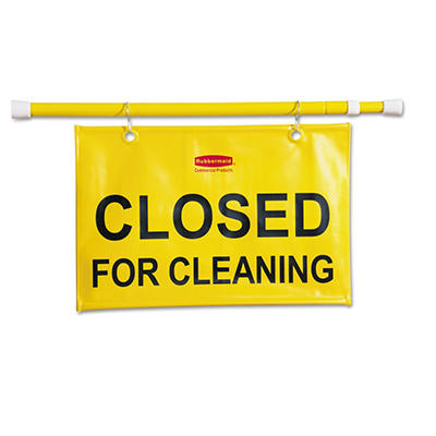 "Rubbermaid Site Safety Hanging Sign ""Closed for Cleaning"""