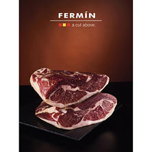 Fermin Iberico, Dry Cured Boneless Ham (includes 10-11 lb. ham and ham cover)