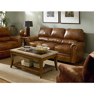 Lane Rockford Leather Reclining Set - 2 pc.