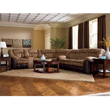 Lane McKenzie Fabric Reclining Sectional - 3 pc.