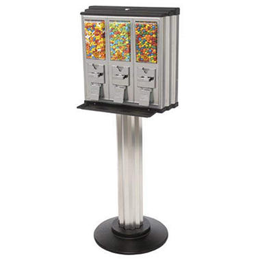 Northwestern Triple Play Vending Machine with Stand