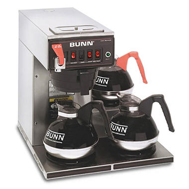 Bunn CWTF15 12-Cup Automatic Brewer with 3 Warmers