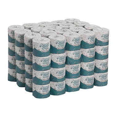 Angel Soft PS - Premium Bathroom Tissue, 2-Ply, 450 Sheets - 80 Rolls