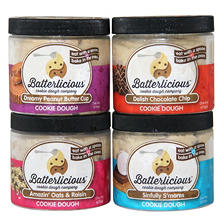 Batterlicious Edible Cookie Dough, Assorted Flavors (1 pt. jar, 4 ct.)