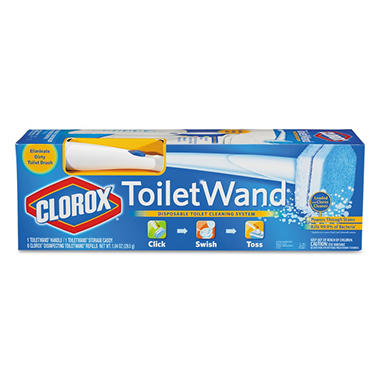 Clorox ToiletWand (6 Disinfecting Refills + 1 ToiletWand Handle + 1 Storage Caddy)