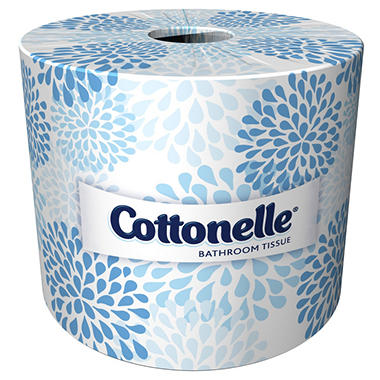 Kleenex - Cottonelle Bath Tissue, 1-Ply, 506 Sheets - 60 Rolls