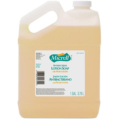 Micrell Antibacterial Lotion Soap - 1 gallon bottles - 4 ct.