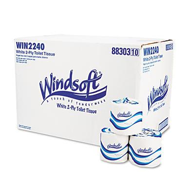 Windsoft - Bath Tissue, 2-Ply, 500 Sheets - 96 Rolls