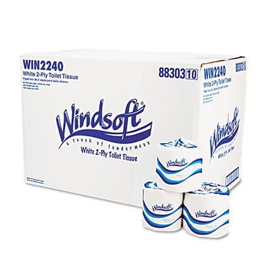 Windsoft - Bath Tissue, 2-Ply, 500 Sheets - 96 Rolls
