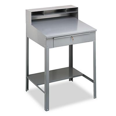 Tennsco Open Steel Shop Desk - Medium Gray