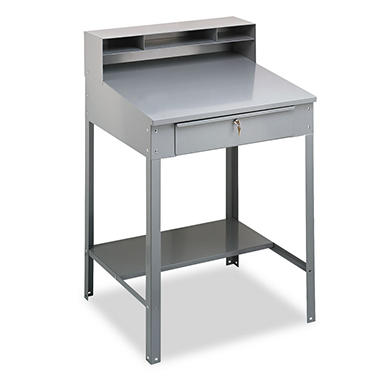 Tennsco Open Steel Shop Desk - Medium Gray