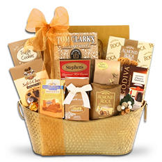 Golden Extravagant Gift Basket