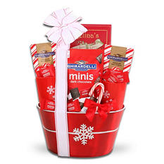 Ghirardelli Snowflake Holiday Gift Basket