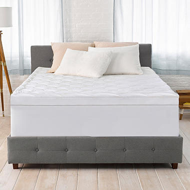 Serta 4 Quot Pillow Top And Memory Foam Mattress Topper Sam