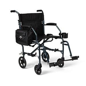 Medline Ultra-Light Transport Chair and Folding Cane (Choose Your Color)
