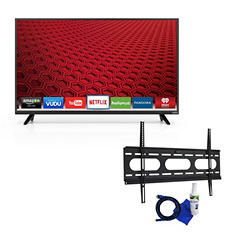 "VIZIO 48"" Class 1080p LED Smart HDTV and Fixed Tilt Mount 37"" to 70"" Bundle"