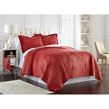 Lenox Quilted 3 Piece Coverlet Set (Assorted Sizes and Colors)