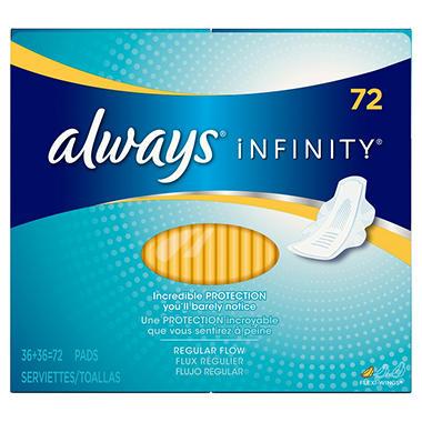Always Infinity Pads, Regular (72 ct.)