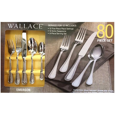 Wallace Flatware 80-Piece Set  -  Emerson