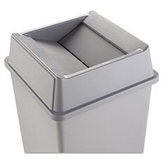 Rubbermaid Untouchable Gray Square Top