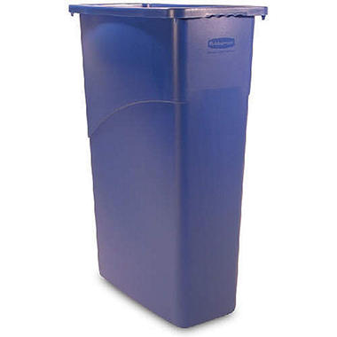 Rubbermaid Slim Jim Trash Can - Blue - 23 gal.