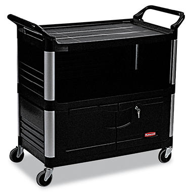 Rubbermaid Xtra? Equipment Cart with Doors - Black