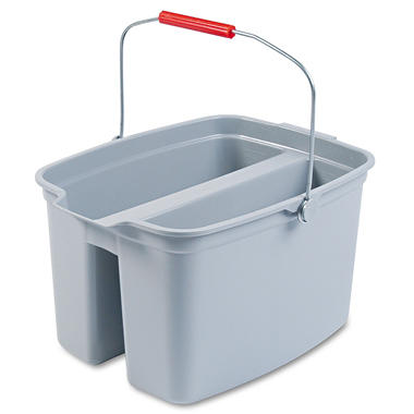 Rubbermaid Gray Double Pail ? 19 qt