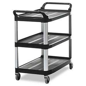 Rubbermaid Xtra™ Utility Cart, Open Sided - Black