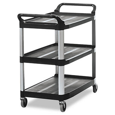 Rubbermaid Xtra? Utility Cart, Open Sided - Black