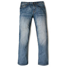 AXEL Relaxed Straight Fit Medium Wash Fashion Denim Jeans