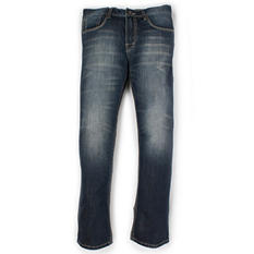 AXEL Relaxed Straight Fit Dark Wash Fashion Denim Jeans