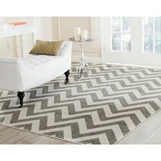 Newport Collection Area Rug 8' x 10' - Chevron Stone Cream