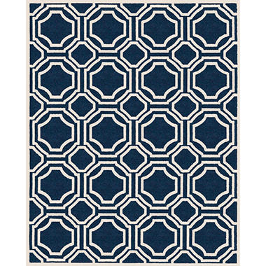 Newport Collection Area Rug 8 X 10 Blue Cream Sam S Club