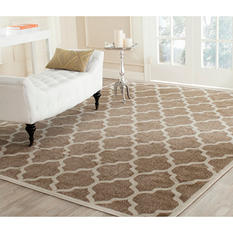 Newport Collection Area Rug 8' x 10' - Garden Trees Wheat Cream