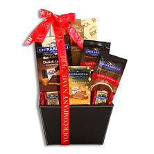 Ghirardelli Chocolate Custom-Print Corporate Gift Basket